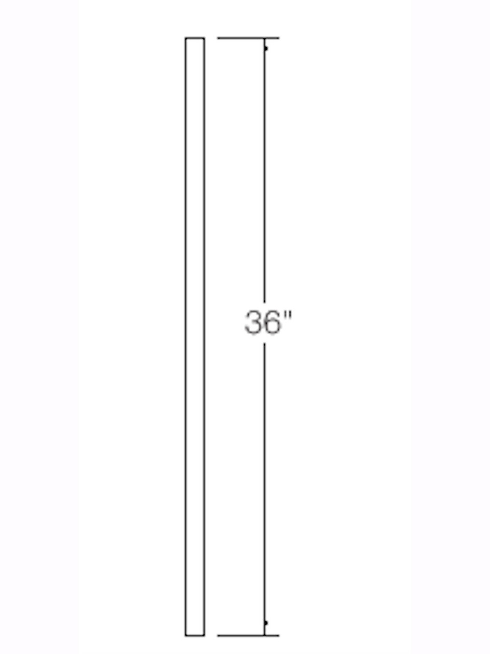 """A-100 36"""" S4S Baluster Dimensional Information"""