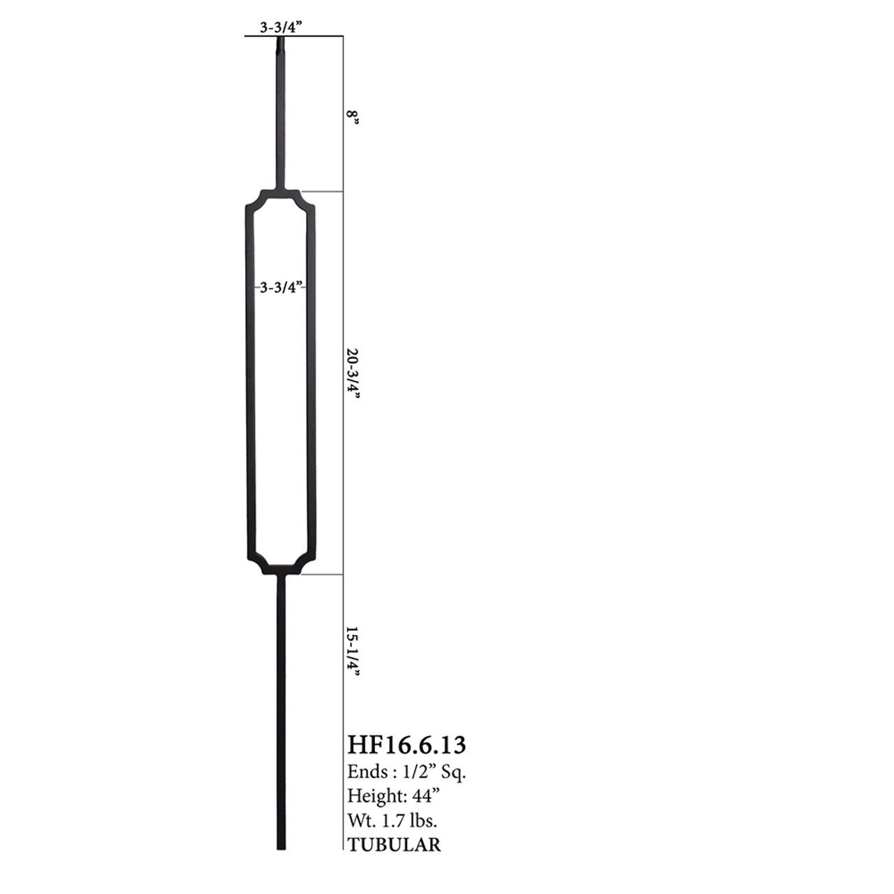 HF16.6.13 Crossed Hexagon Tubular Steel Baluster