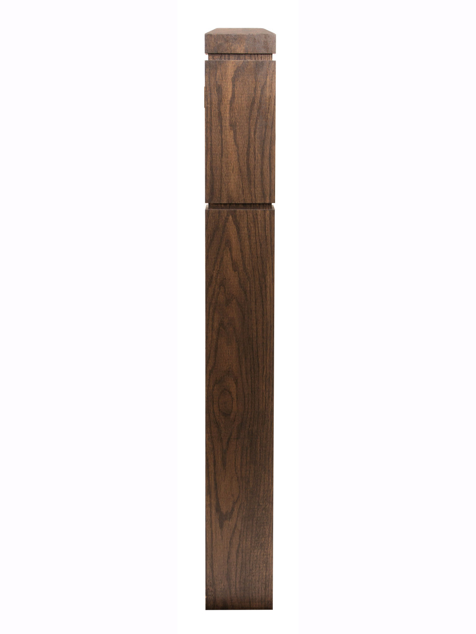 HF5900 S4S Large Routed Newel Post Stained