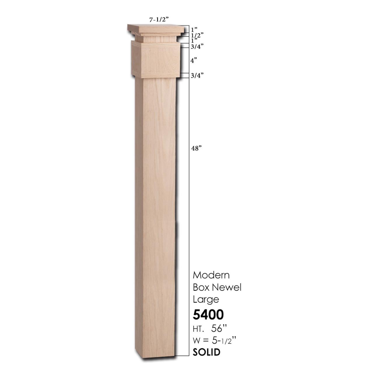 5400 Large Modern Newel Post
