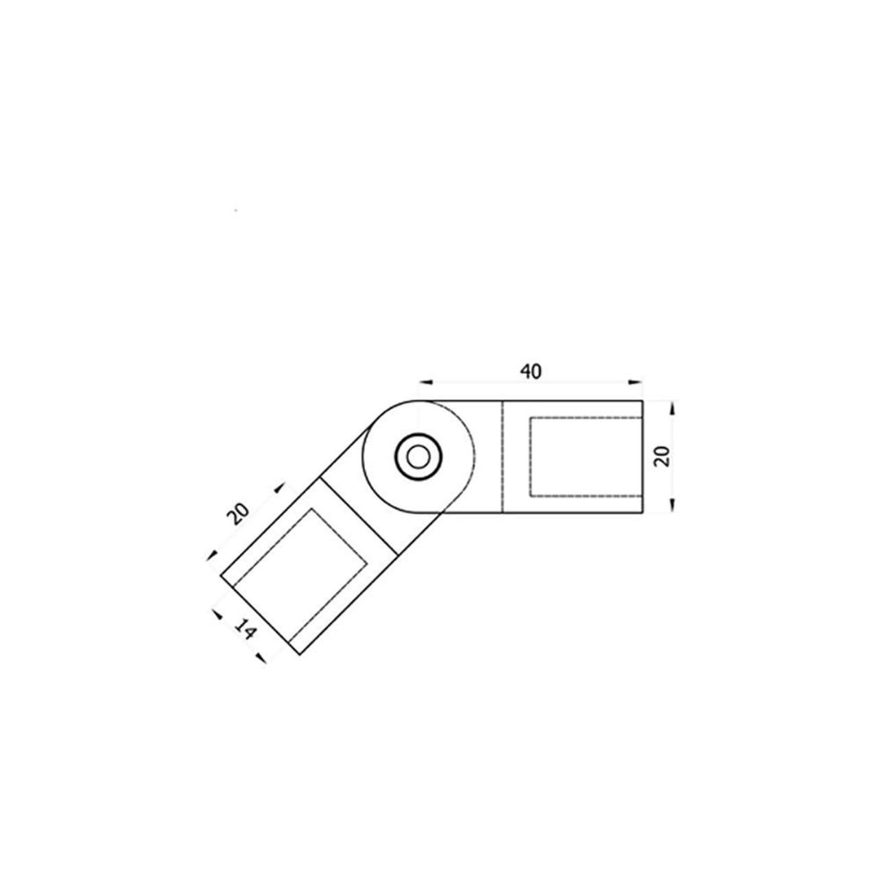 Adjustable Connector for Flat Bar Infill CADD