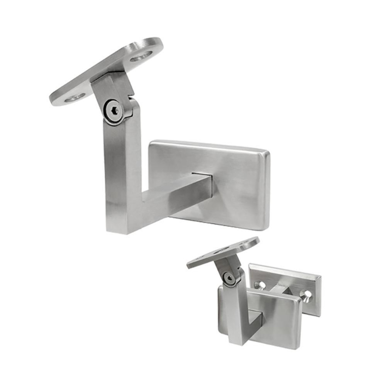 Adjustable Wall Handrail Support for Square or Flat Handrail 74 mm tall