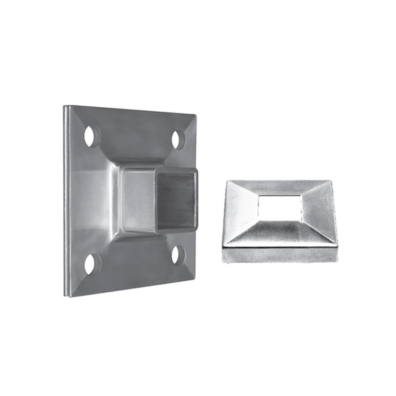 Wall Mount Flange for Square Rail – 40 x 40 x 2 mm (AX20.008.150.A.SP)