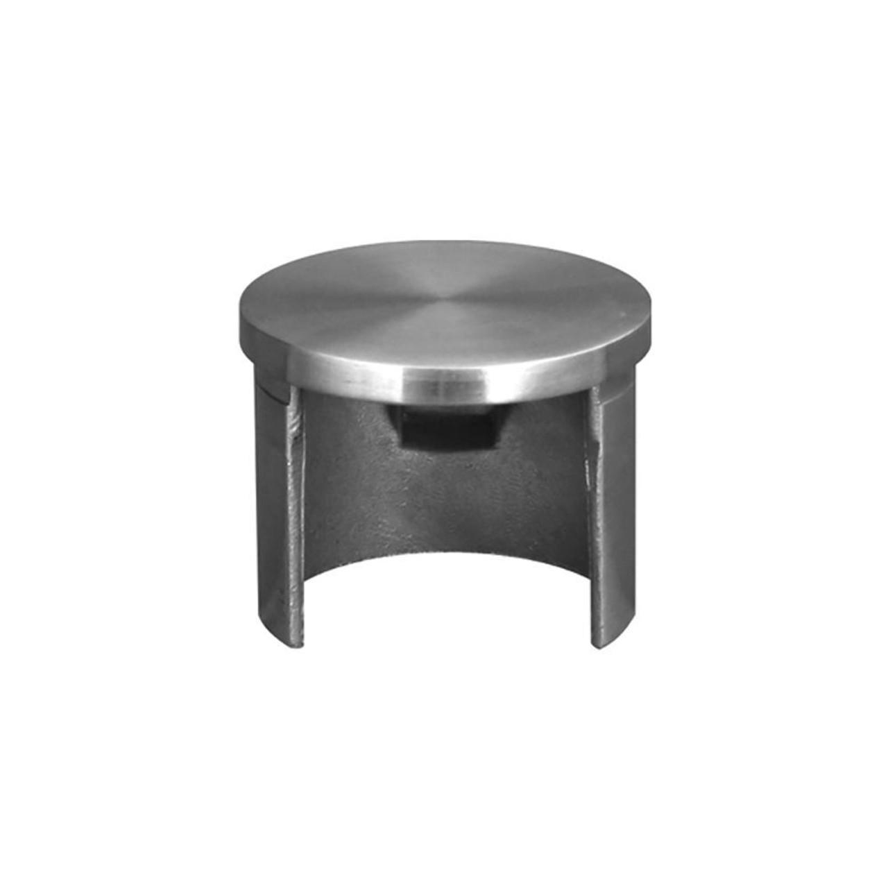 Flat End Cap for Round Glass Cap Rail