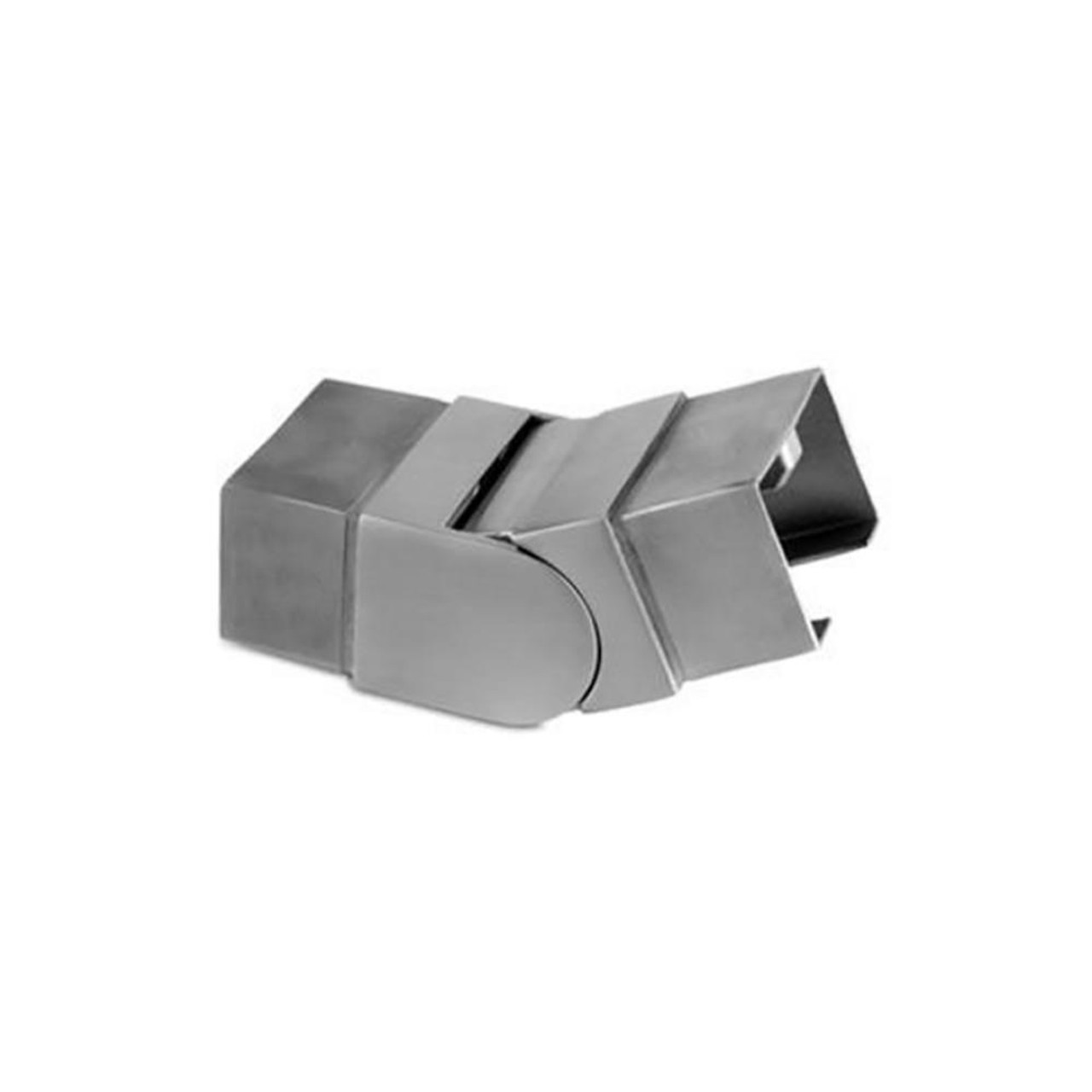 Square Glass Cap Rail Adjustable Angle Vertical Fitting (AX00.032.310.A.SP)