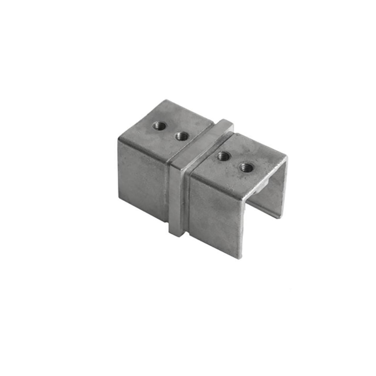 Square Glass Cap Rail Inline Splice Coupler (AX00.032.320.A.SP)