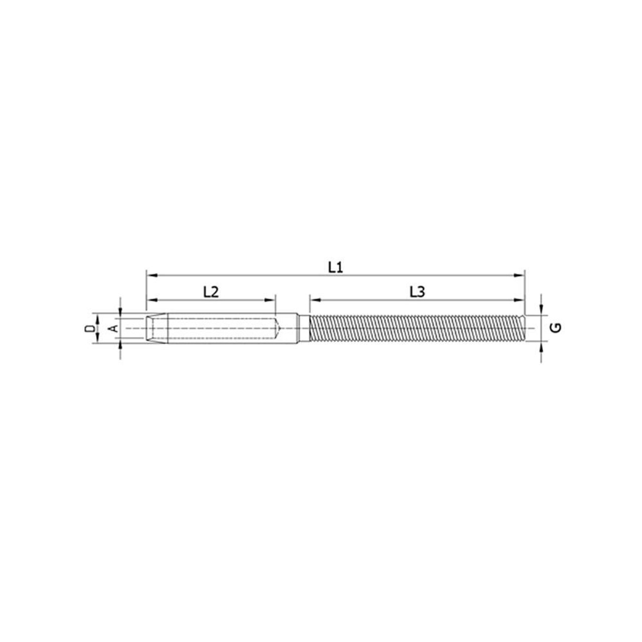 Right Handed Cable Terminal Stud ( DX ) (CADD)