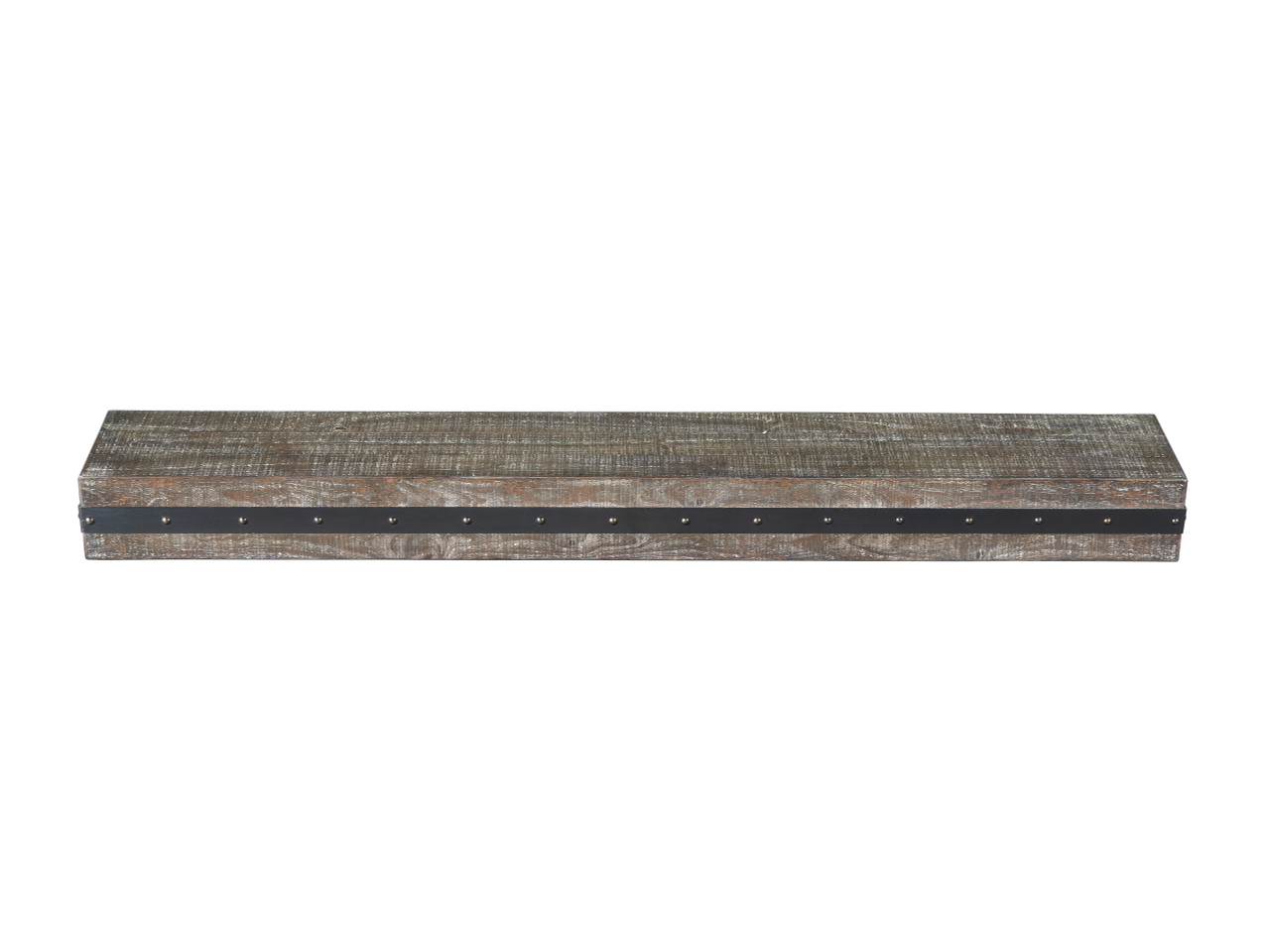 The Bedford Mantel Shelf Gristmill Finish Top View
