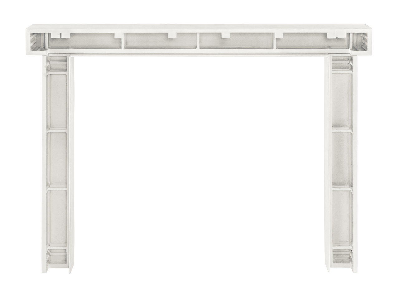 Zachary Non-Combustible Fireplace Mantel Surround Salt (Back View)