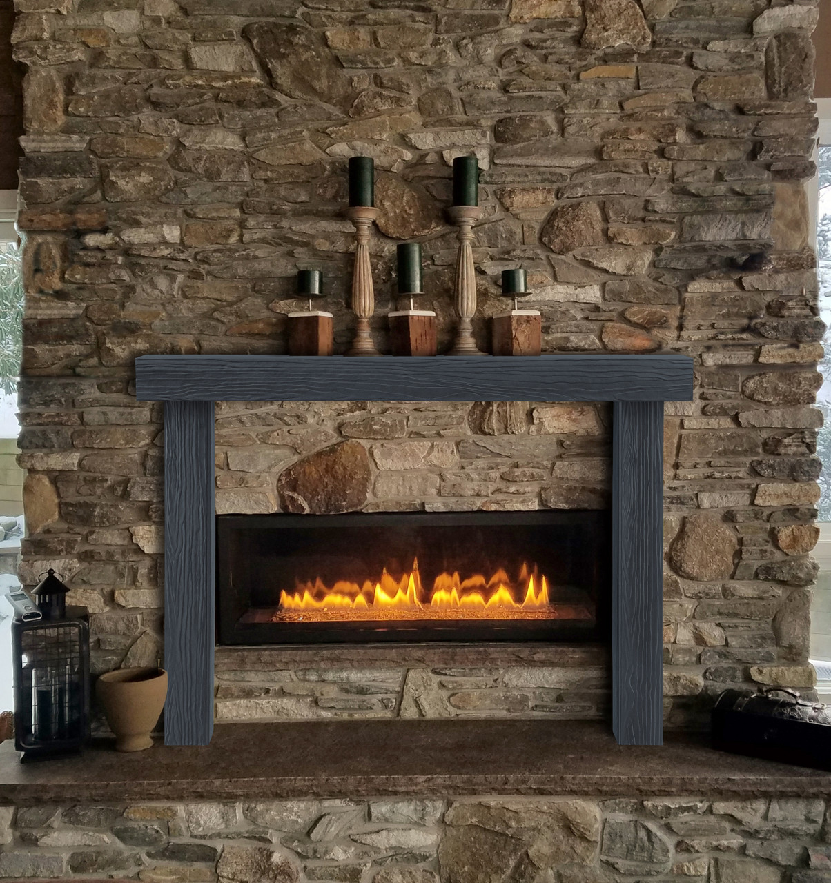Zachary Non-Combustible Fireplace Mantel Surround Pepper (Lifestyle View2)