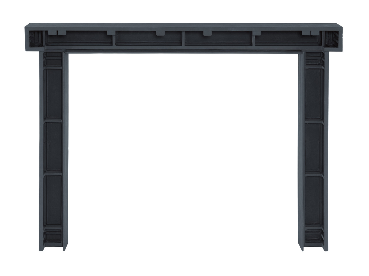 Zachary Non-Combustible Fireplace Mantel Surround Pepper (Back View)