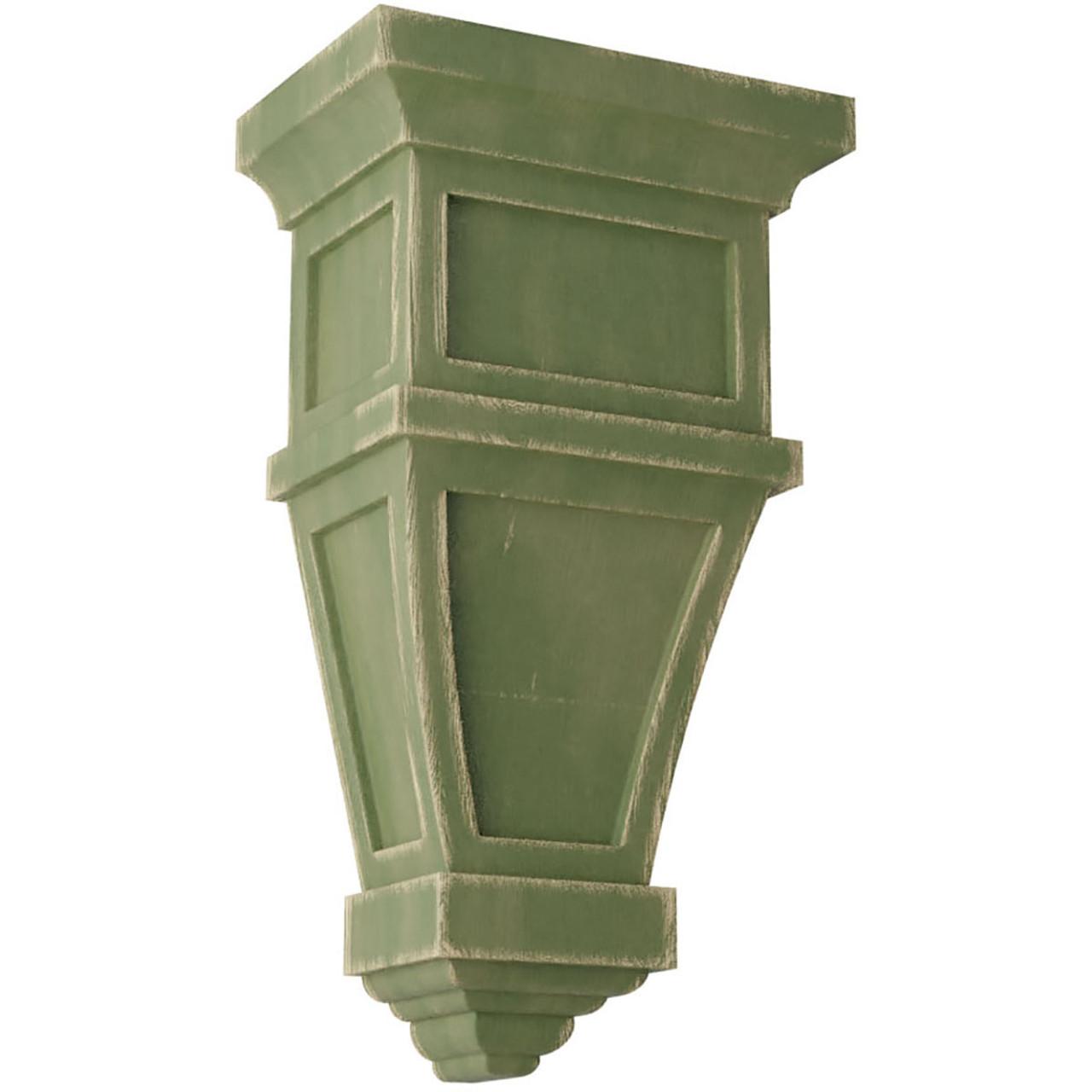 Alpine Wood Vintage Decor Corbel (CORWD06X04X11AP) Vintage Green