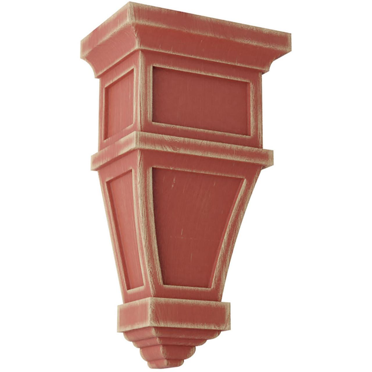 Alpine Wood Vintage Decor Corbel (CORWD06X04X11AP) Salvage Red