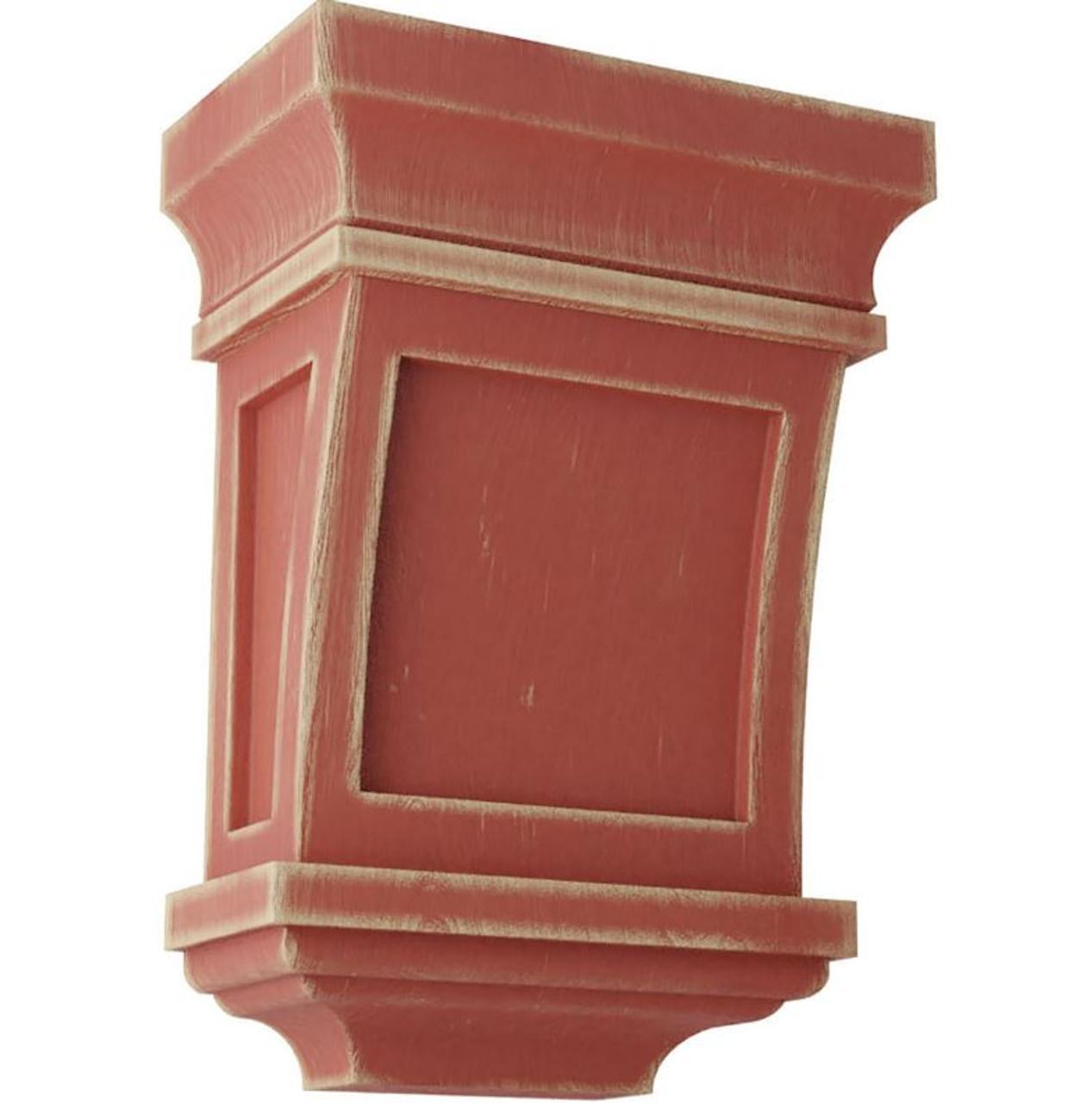 Santa Fe Wood Vintage Décor Corbel, Salvage Red