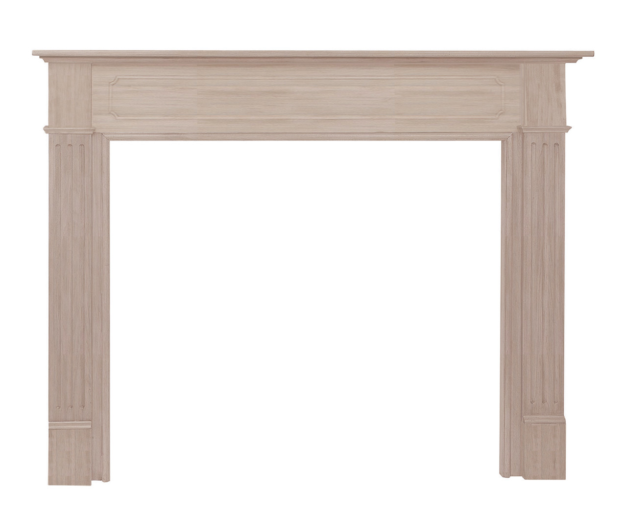 "The Williamsburg 48"" Fireplace Mantel (110-48), Unfinished"