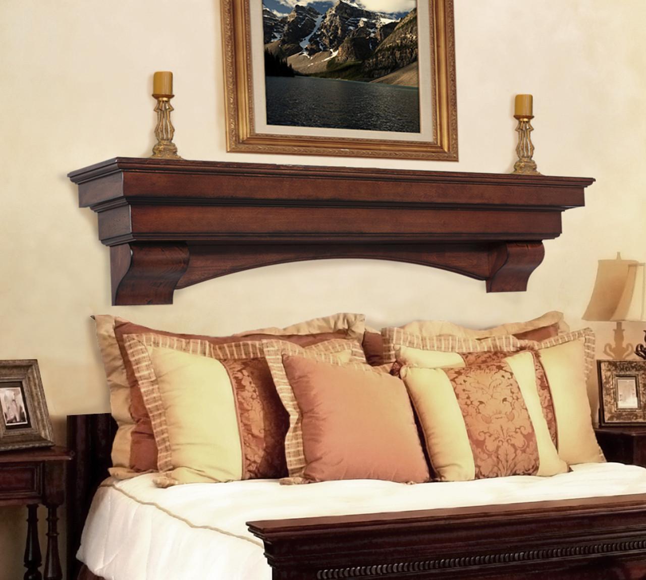 The Auburn 495 Fireplace Mantel Shelf, Life Style View 1