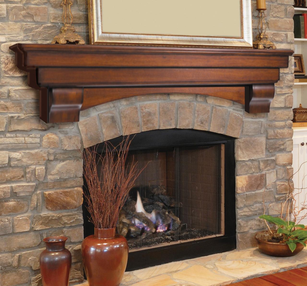 The Auburn 495 Fireplace Mantel Shelf, Life Style View 3