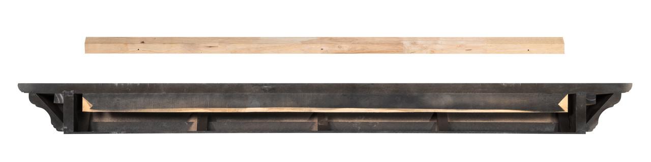The Crestwood MDF Mantel Shelf (618), Back View