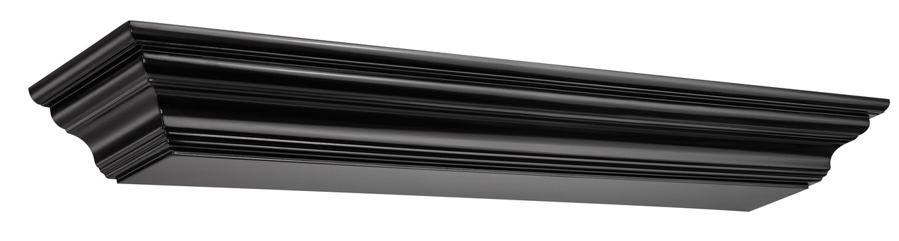 The Crestwood MDF Mantel Shelf (618), Black
