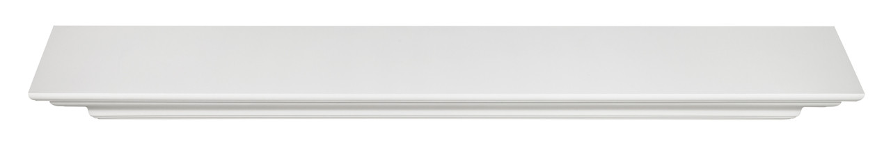 The Crestwood MDF Mantel Shelf (618), White Top View