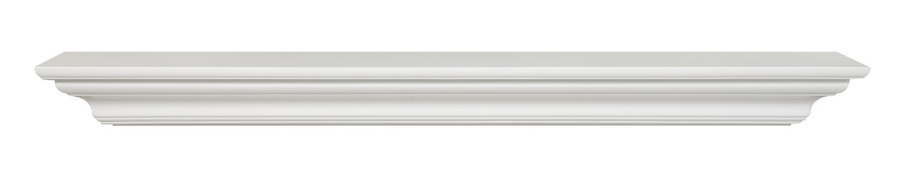 The Crestwood MDF Mantel Shelf (618), White face view