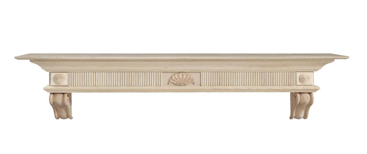 416-60 Devonshire Mantel, Unfinished Mantel Shelf