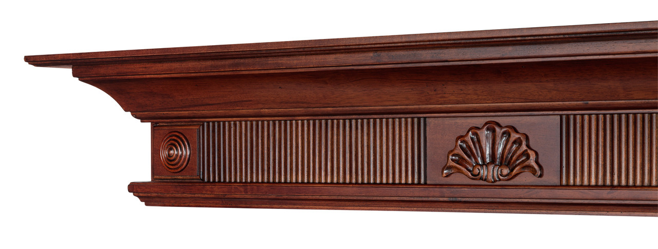The Devonshire 416-72 Mantel Shelf, Left View without Corbels
