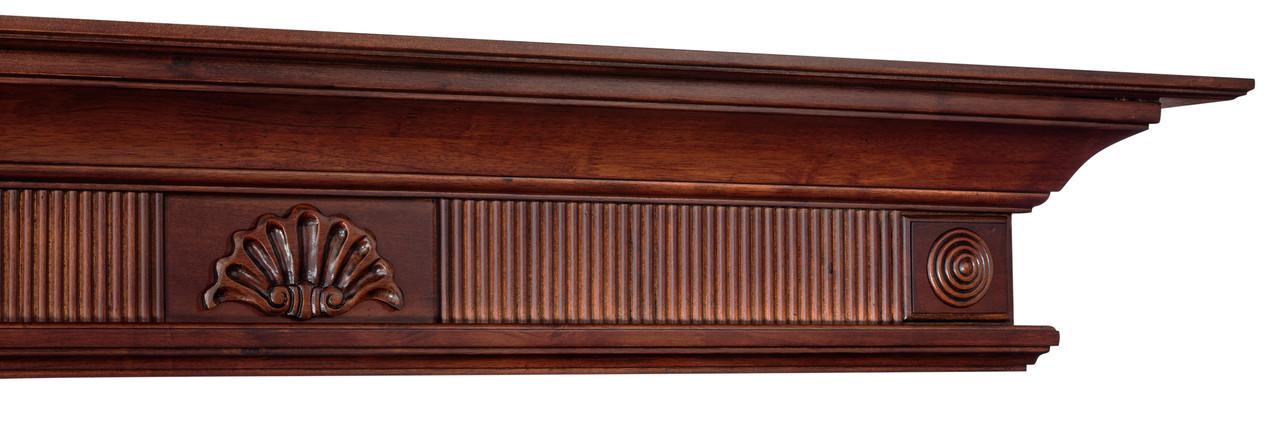 The Devonshire 416-72 Mantel Shelf, Cherry Distressed Finish
