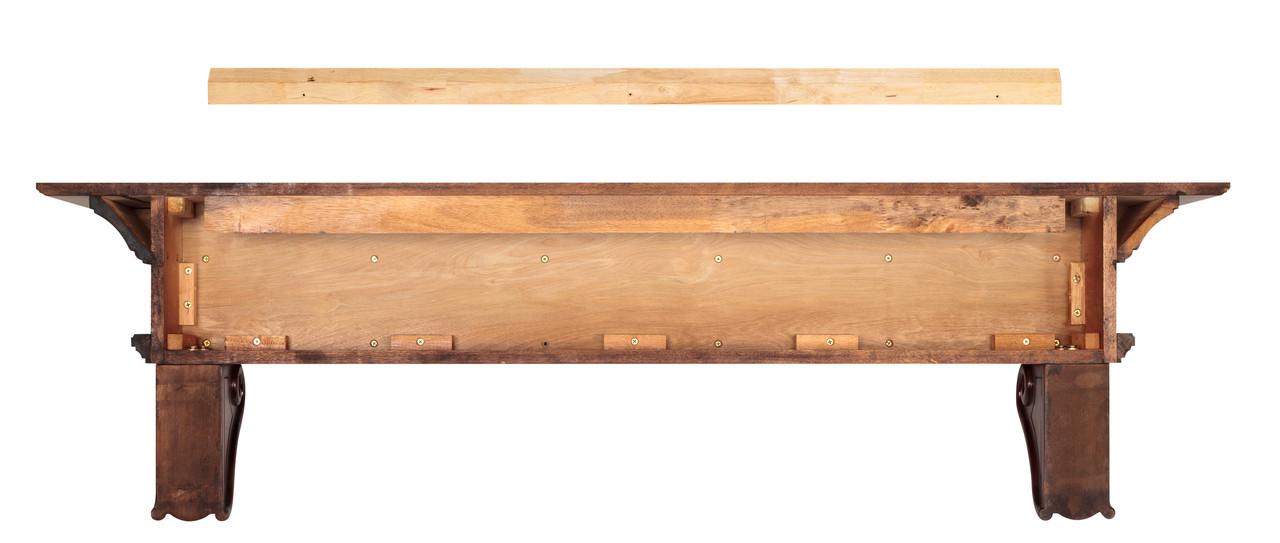 The Devonshire 416-72 Mantel Shelf, Back View