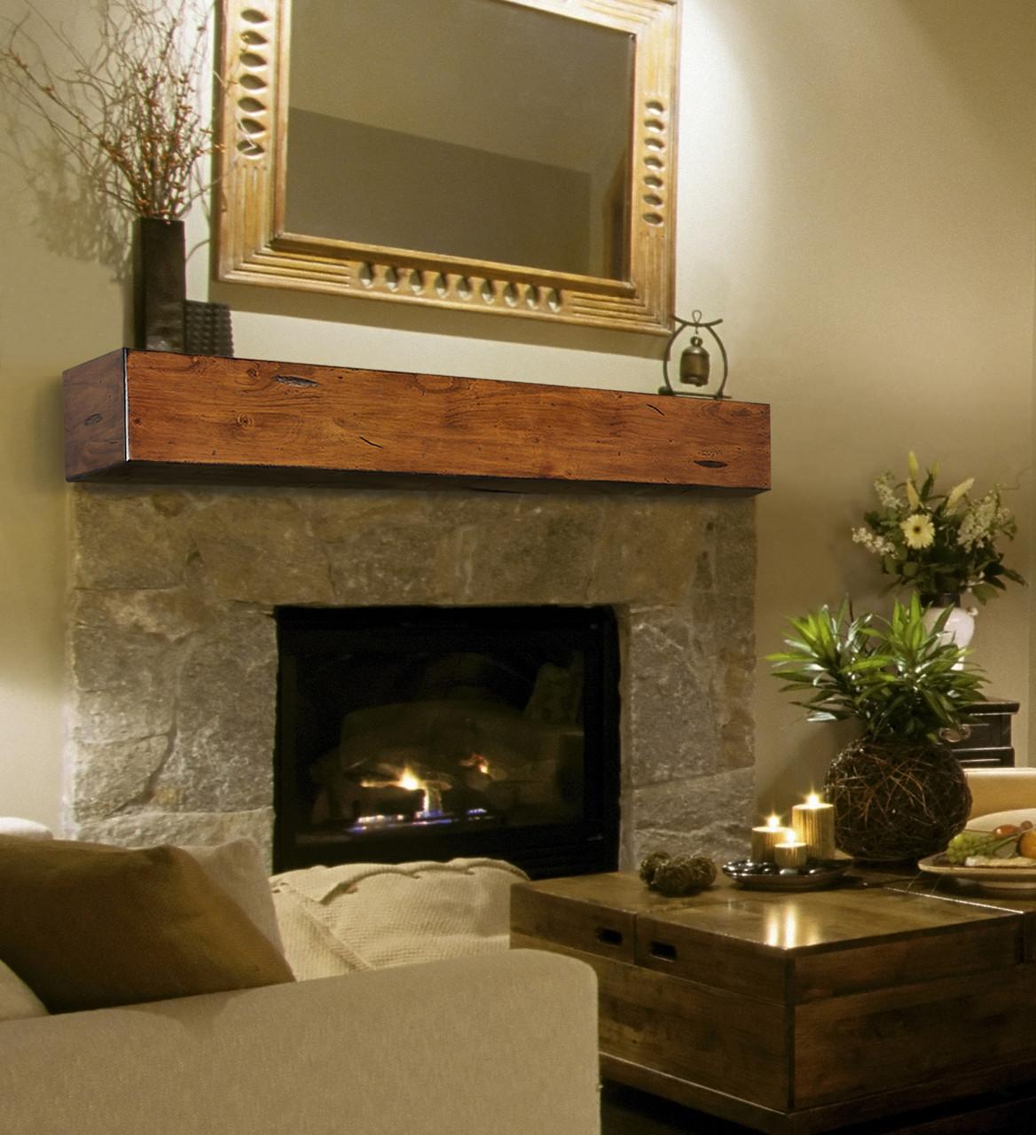 The Lexington 496 Fireplace Mantel Shelf, Life Style View 3