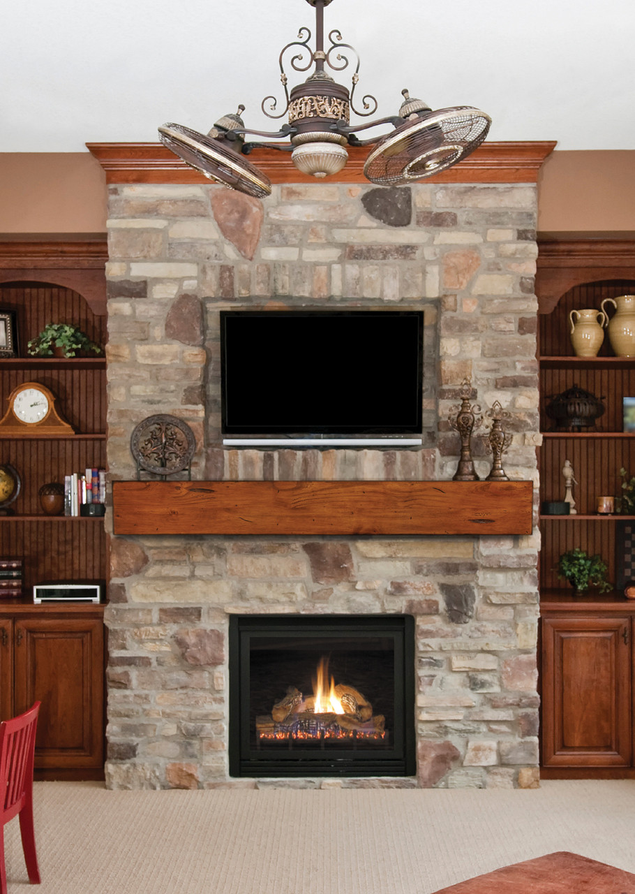 The Lexington 496 Fireplace Mantel Shelf, Life Style View 4
