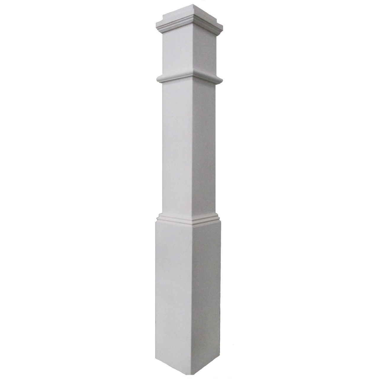 4092 Primed Plain Box Newel (Example)