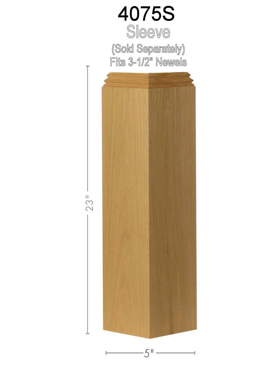 4075 Box Newel Pedestal/Sleeve Dimensional Information