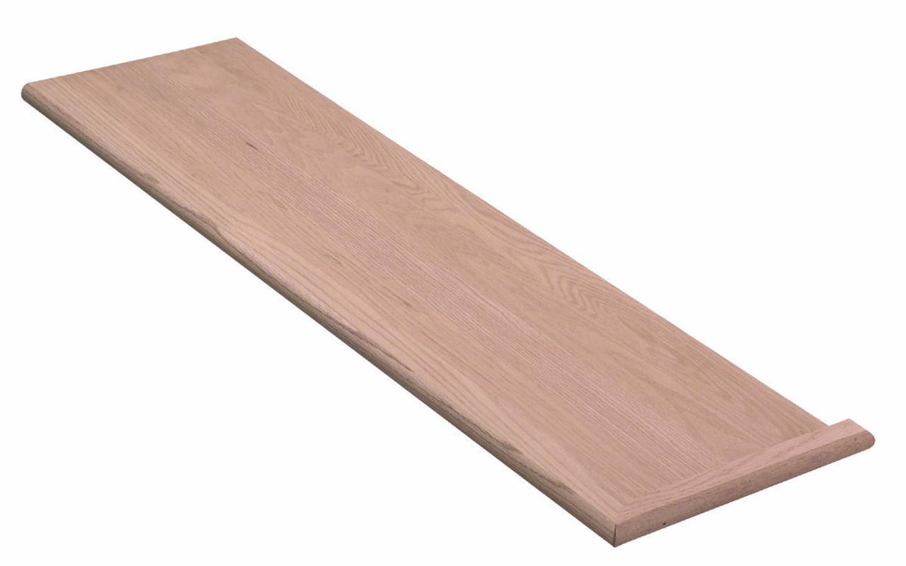 8070 Single Mitered Return Stair Tread, Hard Maple
