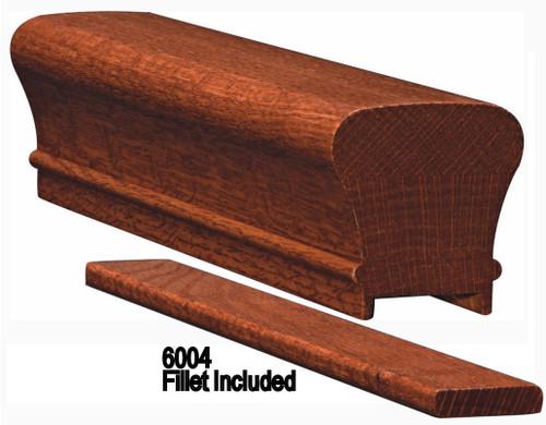 6010P Plowed Genuine Mahogany Handrail