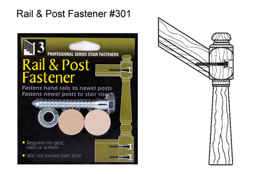 Rail and Post Fastener Kit