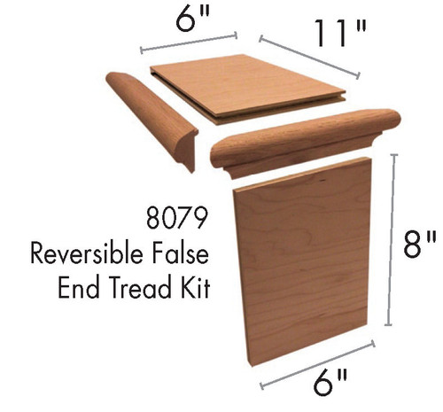 8079 Reversible False Tread Kit Dimensional Information