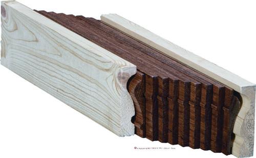 6210B American Cherry or Alder Bending Handrail