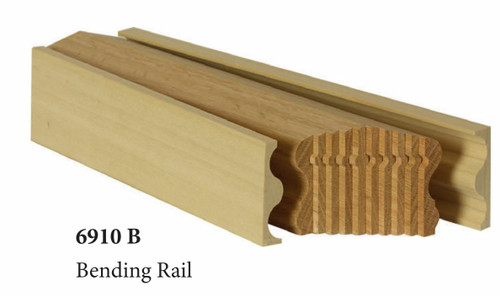 6910B Walnut Bending Handrail