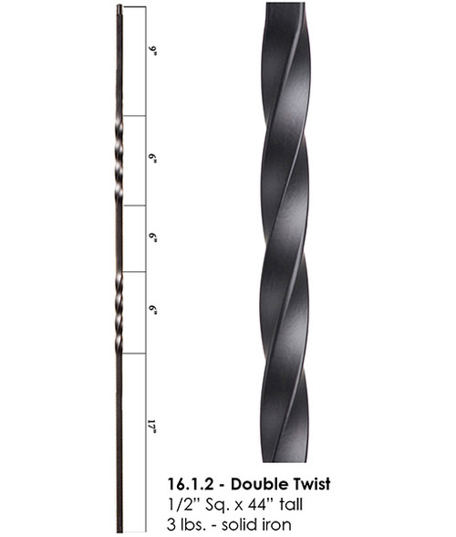 HF16.1.2 Double Twist Iron Baluster