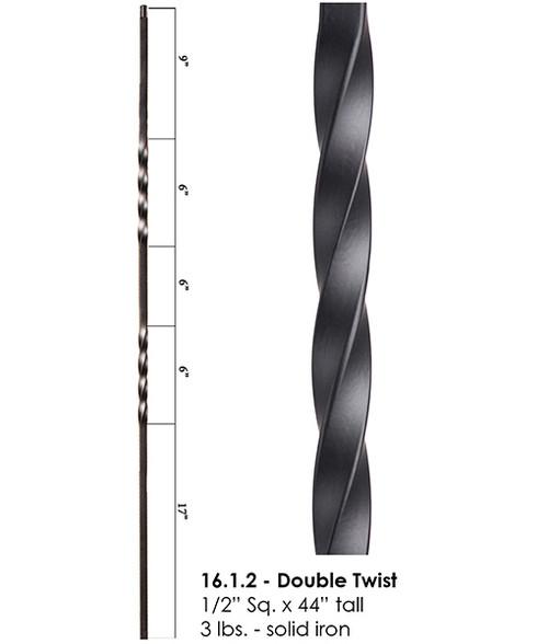 HF16.1.2 Double Twist Iron Baluster