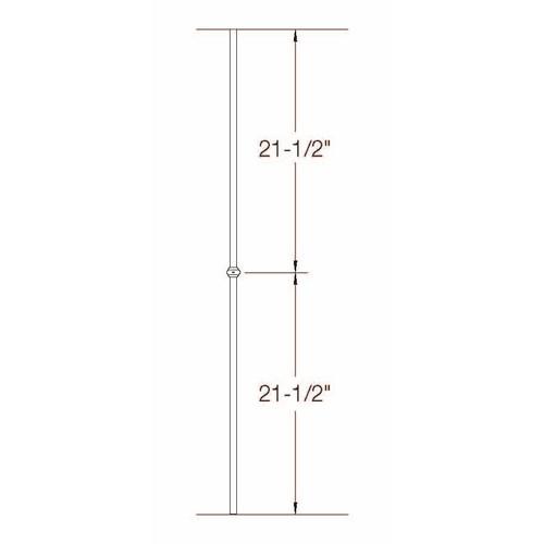 2GR10 16mm Round Single Collar, Tubular Steel Dimensional Information