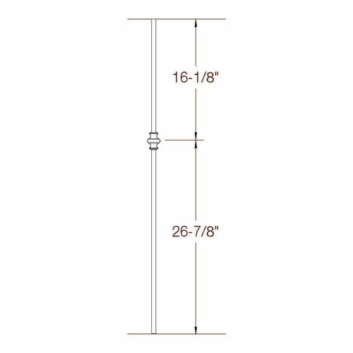 2GR60 16mm Round Single Knuckle, Tubular Steel Dimensional Information