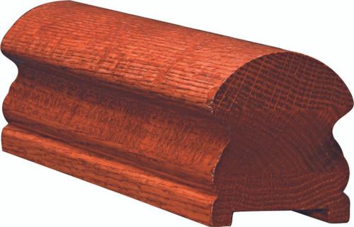 6519P American Cherry or Alder Plowed Handrail