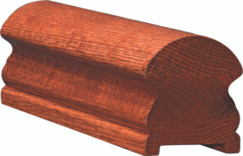 6519P Red Oak Plowed Handrail