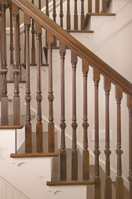 """9005F Fluted 35"""" The Williamsburg Square Top Baluster 2"""