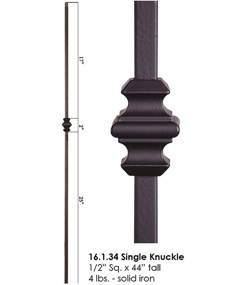 HF16.1.34 Single Knuckle Iron Baluster