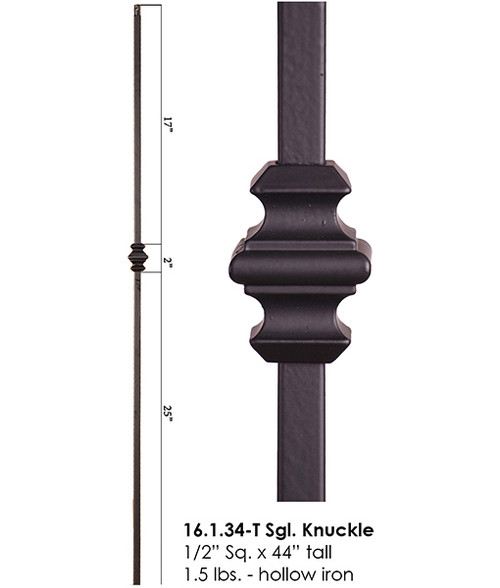 HF16.1.34-T Single Knuckle Tubular Steel Baluster