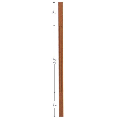 "F-5034 34"" Fluted S4S Contemporary Baluster"