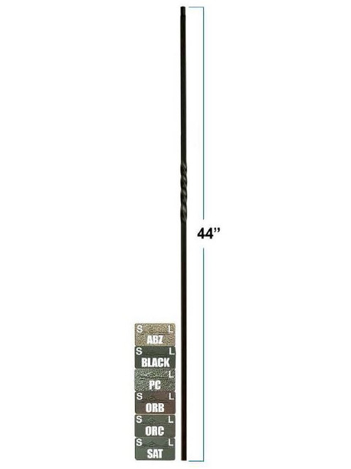 2550-LT Lite Single Twist Tubular Steel Baluster, 12mm